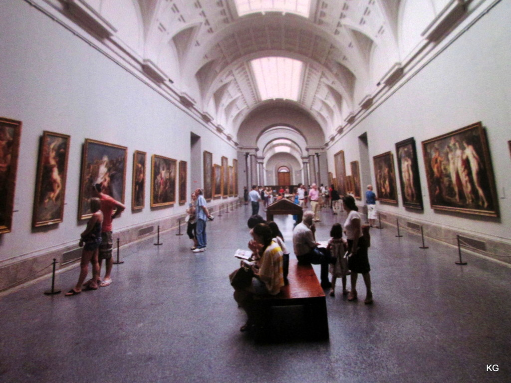 Inside the Museo del Prado from the guide book